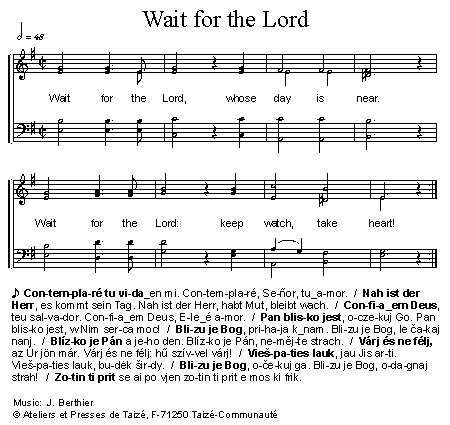 《Wait for the Lord 官方五线谱》